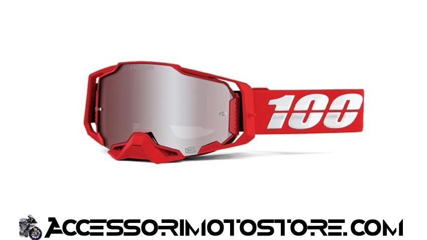 Maschera cross WAR RED ARMEGA 100% cod.461178