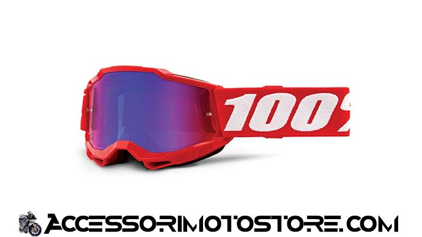 Maschera cross NEON RED YOUTH ACCURI 2 100% cod.461247