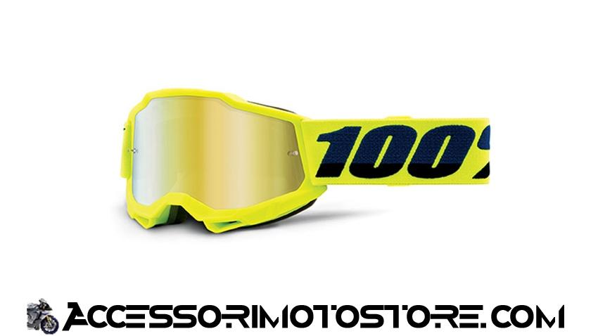 Maschera cross FLUO YELLOW YOUTH ACCURI 2 100% cod.461248