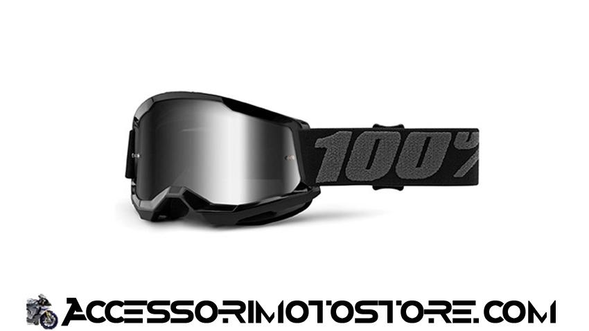Maschera cross BLACK YOUTH STRATA 2 100% cod.461249