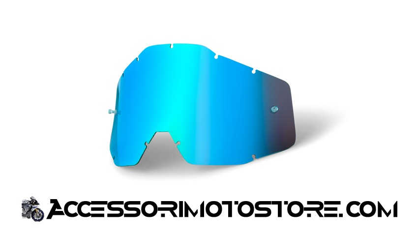 Blue mirror lens for goggles 100% cod.462007